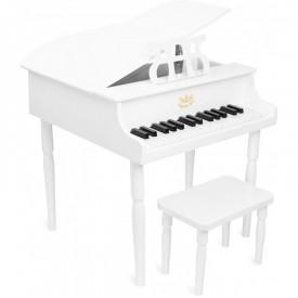 PIANO Y TABURETE BLANCOS