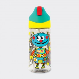 DRINKS BOTTLE WITH STRAW –...