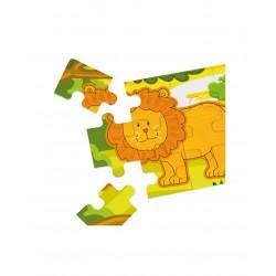 4 Puzzles Diorama Jungla...
