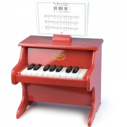 Piano Rojo 18 teclas con...